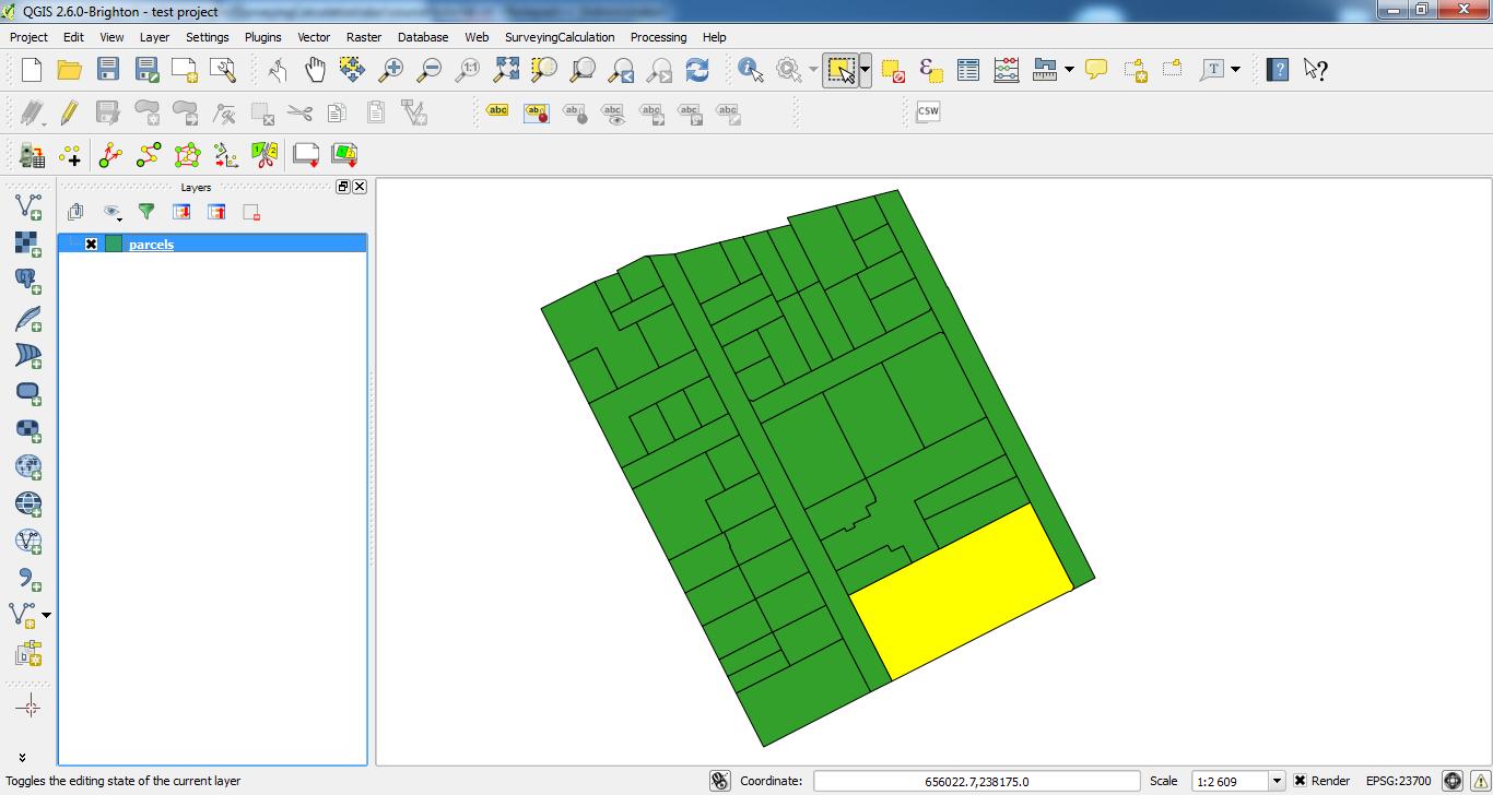 SurveyingCalculation plugin for QGIS 2 x — Surveying Calculation v0
